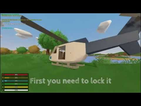 How To: Fly A Helicopter In Unturned|Control's|Gameplay|Tutorial