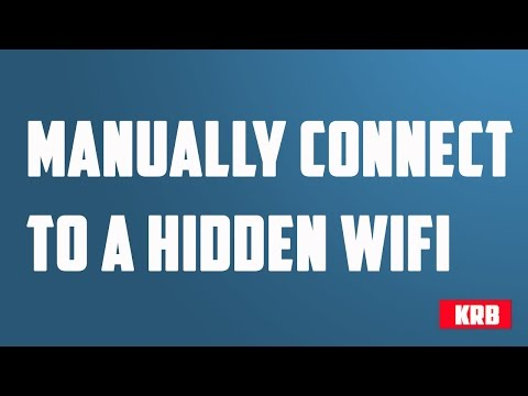 How to manually connect to a Wireless network in Windows