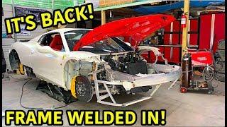 Rebuilding A Wrecked Ferrari 458 Spider Part 7