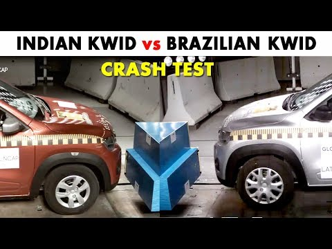Renault Kwid Crash Test - Indian vs Brazilian Version - Safe Cars For India - RicTheCarLover