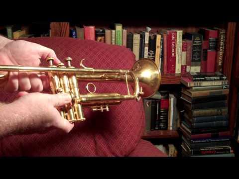 Repair to trumpet #2 valve slide & casing after horn has fallen