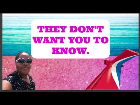 Carnival Cruise Secrets: Free Stuff