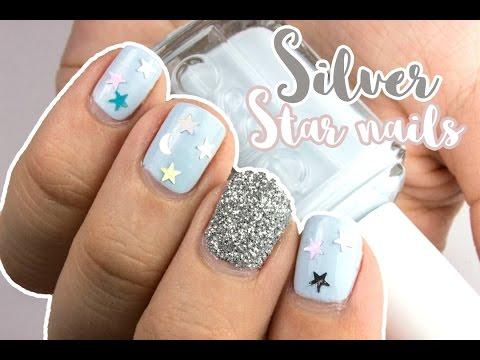 Easy Silver Star Nails   Viki Nailbeauty