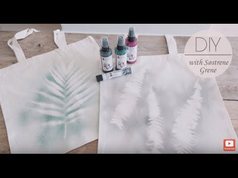 DIY: Customized canvas tote bag by Søstrene Grene