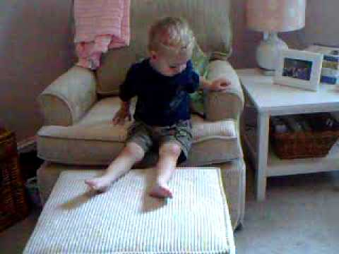 will tries out new nursery chair