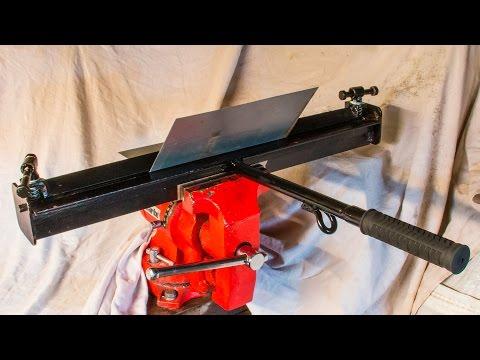 Homemade tools vice mounted sheet metal brake or bender