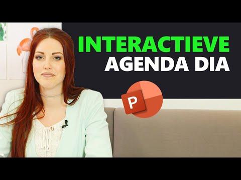 Interactieve agenda maken in PowerPoint