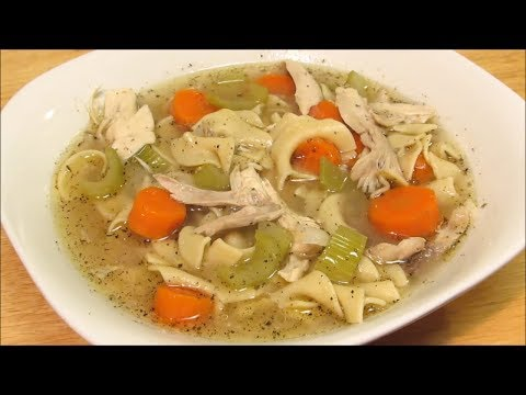 Homemade Homestyle Chicken Noodle Soup Recipe!!