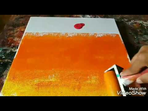 Acrylic Abstract Painting # Learn to paint Easy and Simple abstract painting # 08/02/2017