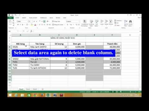 Excel 2013 - How To Quickly Delete Blank Rows And Columns