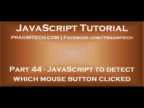 JavaScript to detect which mouse button is clicked
