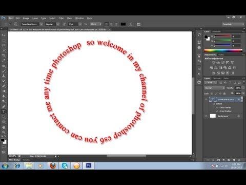 Circular text Photoshop cs6