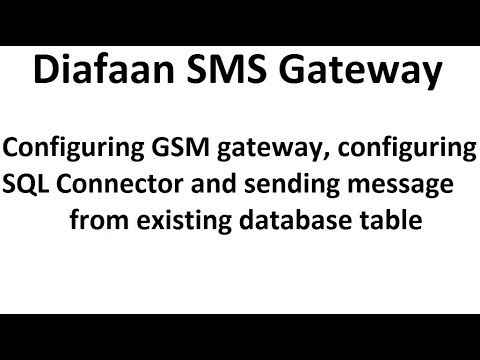 Diafaan SMS Gateway, configuration for sending local database messages