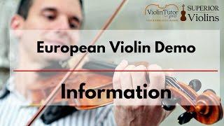 European Violin Demo - Lacek, Kowalski, Topa Violins