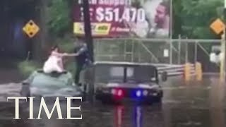 The Bogota Police Rescue A Bride From A Flood On Her Wedding Day | TIME