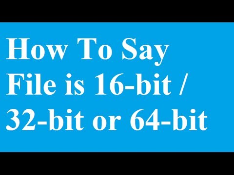 How to check if a Application .exe file is 16-bit/ 32-bit or 64-bit Type