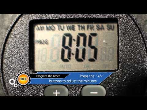 GE - 15142 Outdoor Digital Timer - Programing The Timer - (part 2 of 6)