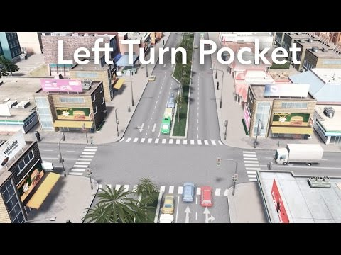 Cities: Skylines - Left Turn Pocket Intersection Build - 2017 Tutorial