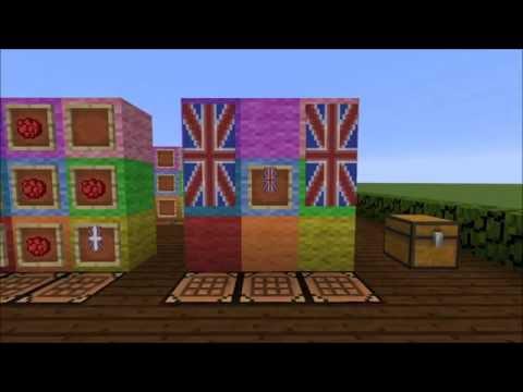 British Flag Banner Tutorial Minecraft