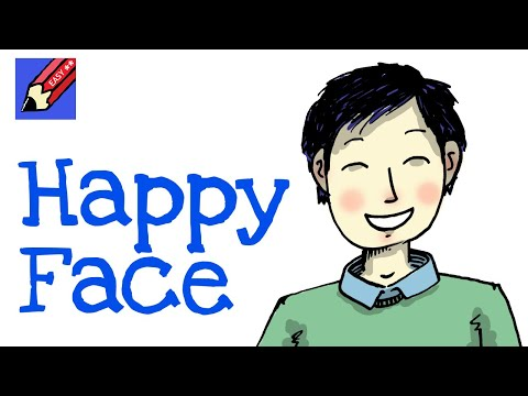 How to draw a Happy Face - for kids and beginners