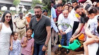Sanjay Dutt Graces The Tree Plantation Drive By Asif Bhamla Foundation