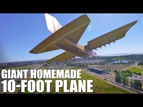 GIANT Homemade 10-FOOT Plane   Flite Test