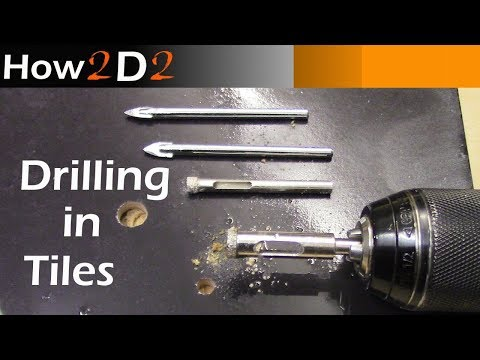 Drilling in tiles. Standard and hole saw drill bit. How to drill in tile