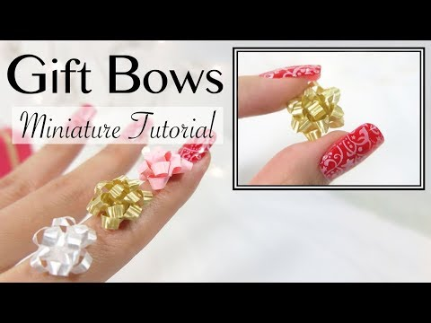 DIY Miniature Gift Bow Ribbon Tutorial