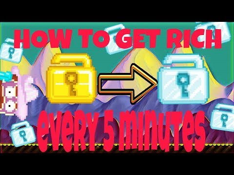 HOW TO GET RICH WITHOUT FARMING!!! GET RICH IN 5 MINUTES! Episode #6   Growtopia
