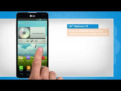 How to unblock calls from a number you previously blocked in LG® Optimus L9