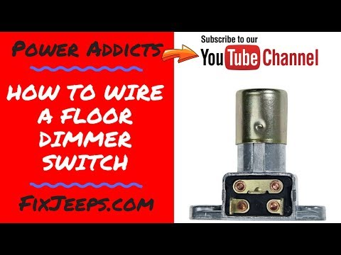 How to wire a floor mounted dimmer switch. Great for LED light switching!