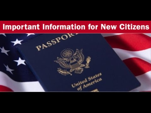 ATTENTION NEW US CITIZENS!