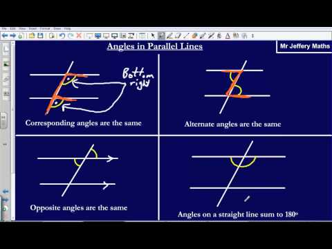 Angles in parallel lines (Edexcel GCSE Maths)