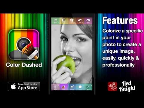 Color Your iPhone / iPad Images with Color Dashed App