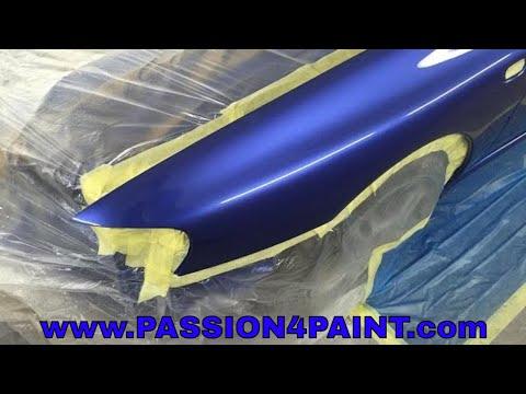 PART 3. Subaru Impreza, How to flow coat , spray lacquer like glass with the IWATA W-400 BELLARIA
