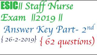 Esic staff nurse result and cut off 2019 | Music Jinni
