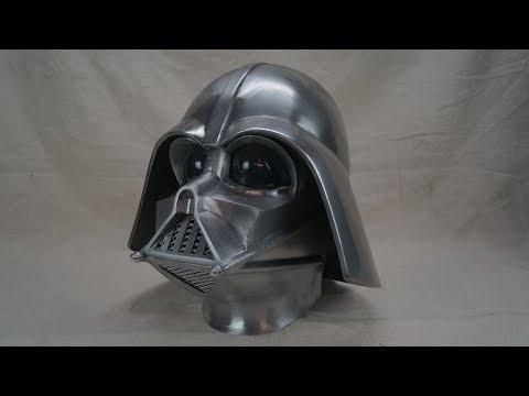 making  the metal darth vader helmet