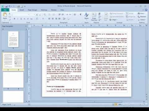 Page Numbering with Publisher 2010