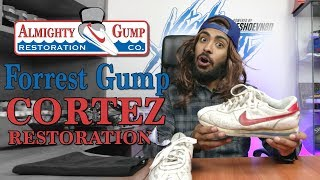 Almighty Gump restores a pair of vintage Nike Cortez
