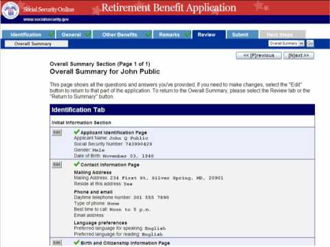 Applying for social security Benefits online part 2