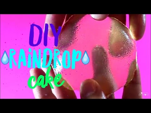 DIY | Raindrop Cake + Giant Raindrop Cake!!! - How To Make Japanese Mizu Shingen Mochi!!!