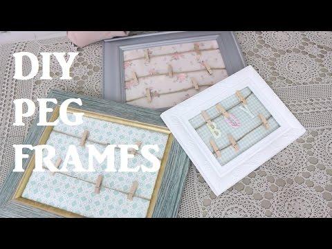 DIY - How to Create a Peg Frame  | @sara_why