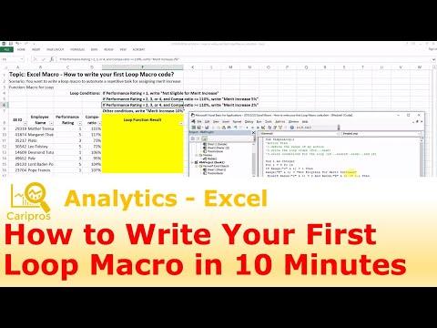 Excel Macro - How to Write Your First Loop Macro