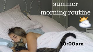 summer morning routine | 2019