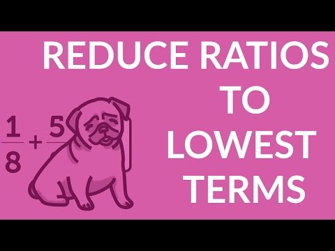 ʕ•ᴥ•ʔ Reducing Ratios to Lowest Terms with easy Ratio Notation example