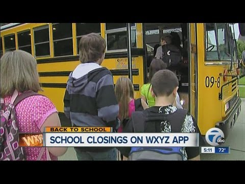 How to sign up for school closing and weather alerts