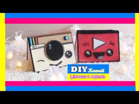 2 DIY Libretas o agenda KAWAII // how to make Address book /MANUALIDADES/ youtube - instagram