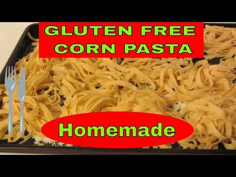 How to make Gluten Free Corn Pasta ~ Food Processor and Pasta Roller Machine