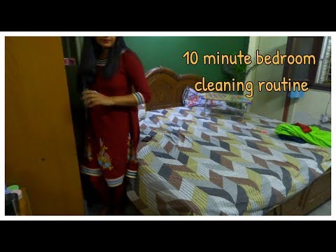 10 Minute Bedroom Cleaning Routine. Indian mom cleaning Routine.speedy Evening cleaning routine.