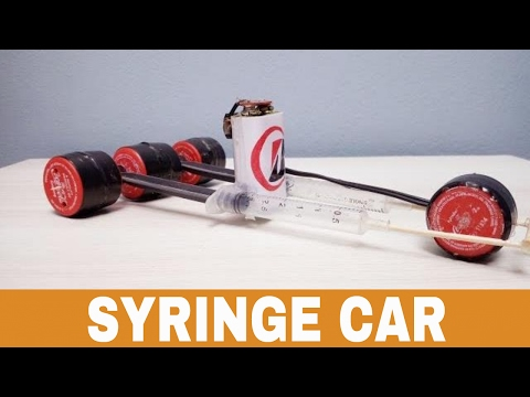 How to Make Amazing F1 Racing Car  from syringe